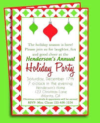 Holiday Templates For Word Free Christmas Invitation Template Word Growinggarden Info