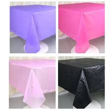 plastic party tablecloths waterproof table cover party solid round plastic tablecloths wedding party event decorations home