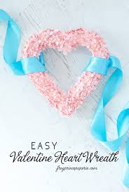 make a valentine diy heart wreath with corsage pins and pink cardstock super simple to