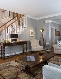 Wohnzimmer Einrichtung Braun Grau Creme Rustikale. «
