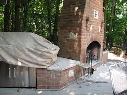 stone chimney construction and outdoor kitchen in dublin