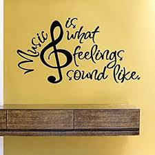 Amazon Music Is What Feelings Sound Like Vinyl Wall Decal Home Unique Upset Feelings Stickers