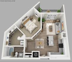 one bedroom house plans. The Renoir Is A One Bedroom Bath Apartment With An Open Living And Dining Area House Plans T
