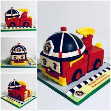 Izah's Kitchen: 3D Robocar Polly Ray cake, Halal cake Singapore