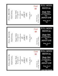 Event Ticket Template Word Event Ticket Template Cyberuse
