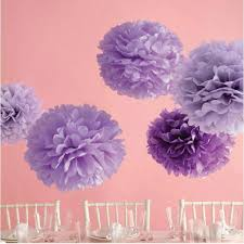 Decorative Tissue Paper Balls Adorable 32pc 32 32 3232cm32cm32cm Decorative Tissue Paper Pom Poms Purple