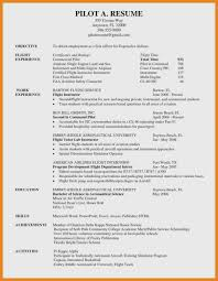 97 Aviation Resume Examples Commercial Pilot Resume