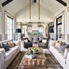 Living room furniture design Creative Example Of Transitional Open Concept Carpeted And Gray Floor Living Room Design In Other With Elle Decor 75 Most Popular Living Room Design Ideas For 2019 Stylish Living