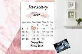 Calendars For Pregnancy Details About Pregnancy Announcement Calendar Due Date Personalised Size A4 Proff Printed