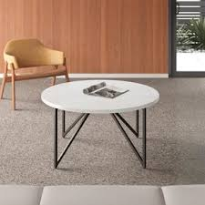 The coffee table also comes with beautiful craftsmanship on its legs and a glossed dark brown finish for incredible style. Modern Contemporary Marble Coffee Table Allmodern