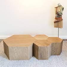 28 hexagon geometric modular tables and
