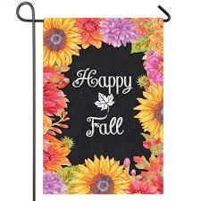 happy fall fl fall garden flag
