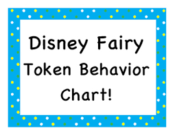 Disney Princess Behavior Chart Disney Fairy Princess Token Behavior Chart