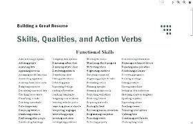 Resume Verbs Fascinating Strong Action Words For Resume Action Verbs List Resume Action