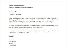 Interview Thank You Email Sample Cover Letter Scholarship Example ...