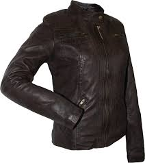 las leather jacket fashion sheepskin nappa leather colour dark brown
