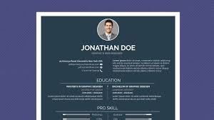 Free Professional Resume Template Minimal Simple Dark