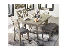 Get free shipping on qualified baldwin coffee tables or buy online pick up in store today in the furniture department. Signature Design By Ashley Aldwin Table And Chair Set With Bench Royal Furniture Table Chair Set With Bench