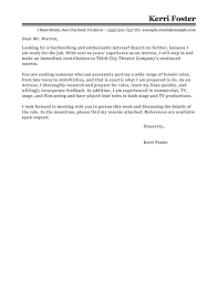 Cover Letter Livecareer Best Actor Actress Cover Letter Examples Livecareer Inside Acting