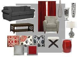 gray and red living room. future living room gray, red, and creamyes please ideias de gray red g