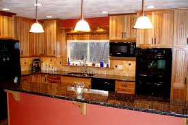 hickory kitchen cabinets with granite counter top after the