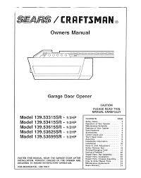 Craftsman Garage Door Opener 53315sr User Guide Impressive Manual ...