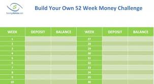 52 Week Money Chart Build Your Own 52 Week Money Challenge Chart Savingadvice