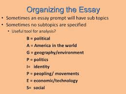 how to write a great thesis ppt video online  organizing the essay sometimes an essay prompt will have sub topics