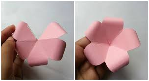 How To Make A Flower Out Of Paper Step By Step Diy Paper Flowers Folding Tricks 5 Steps With Pictures