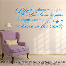 life dance in the rain quote motivational decals vinyl wall art stickers decor  on wall decal vinyl art stickers decor with life dance quote motivational decals vinyl wall art stickers