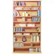 large cd dvd multimedia storage shelves pine 1 1