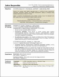 Resume Objective Sample Information Technology Best Sample ...