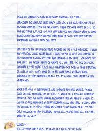 Letter Girlfriend