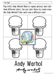 Small Picture FREE Andy Warhol Coloring Sheets Coloring Pinterest Warhol