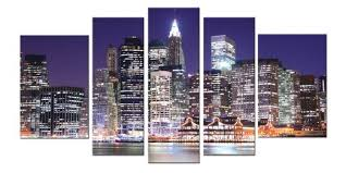 >wall art designs popular wall art new york city from best artist   startonight beautiful wall art new york city colorfull buildings river city lighting bright lamp purple night