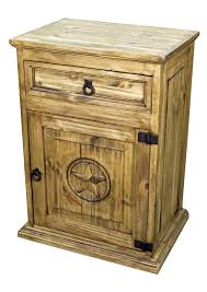 texas rustic home decor captivating pine nightstand latest ideas