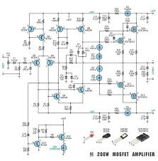 mosfet amplifier circuit diagram ireleast info 200w mosfet power amplifier electronic circuit wiring circuit