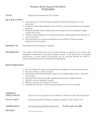 Substitute Teacher Job Description For Resume Berathen Com