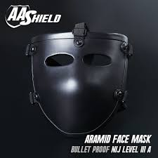 aa shield ballistic visor bulletproof face aramid core mask lvl aa shield ballistic visor bulletproof face aramid core mask lvl level iiia 3a