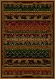 bearwalk area rug cabin style area rug