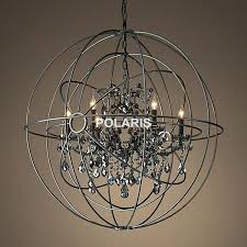 impressive large orb chandelier with crystals picture ideas