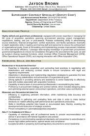 Federal Government Resume Template 11 Federal Resume Examples