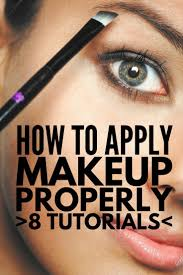 8 tutorials to teach you how to apply make up like a pro blue eyes eyeliner and brows