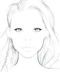 Printable Blank Makeup Face Charts Lajoshrich Com