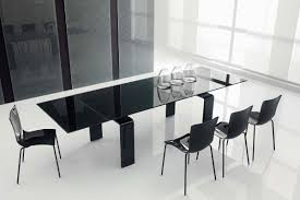 modern black dining room tables. Impressive Dining Room Interior With Modest Glass Table Modern Black Tables