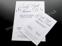 Black And White Invitation Paper Hot Foil Printed Wedding Invitations And Stationery