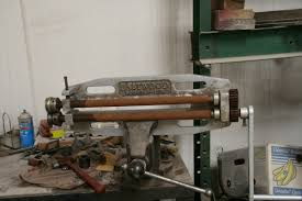 the bead roller was set up in a large vise you could mount the roller