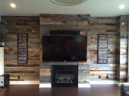 reclaimed weathered wood accent walls