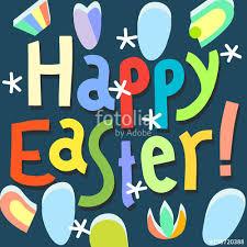 Easter Greeting Card Template Fascinating Happy Easter Greeting Card Design Template Happy Easter Headline