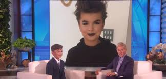 ellen degeneres talks to a 12 year old boy who was beaten up for
